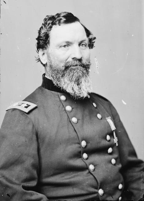 Major General John Sedgwick, killed at the battle of Spotsylvania Court House, for whom Sedgwick County, Kansas is named