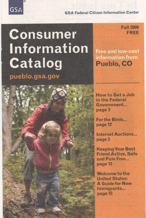 The FCIC's Consumer Information Catalogue for Fall 2009 is now available.