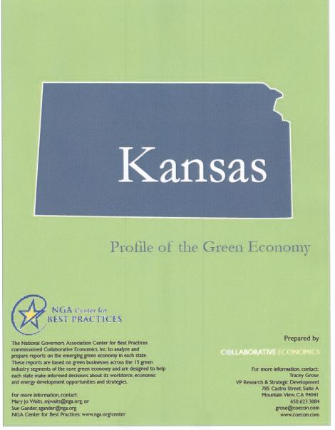 Kansas -- Profile of the Green Economy